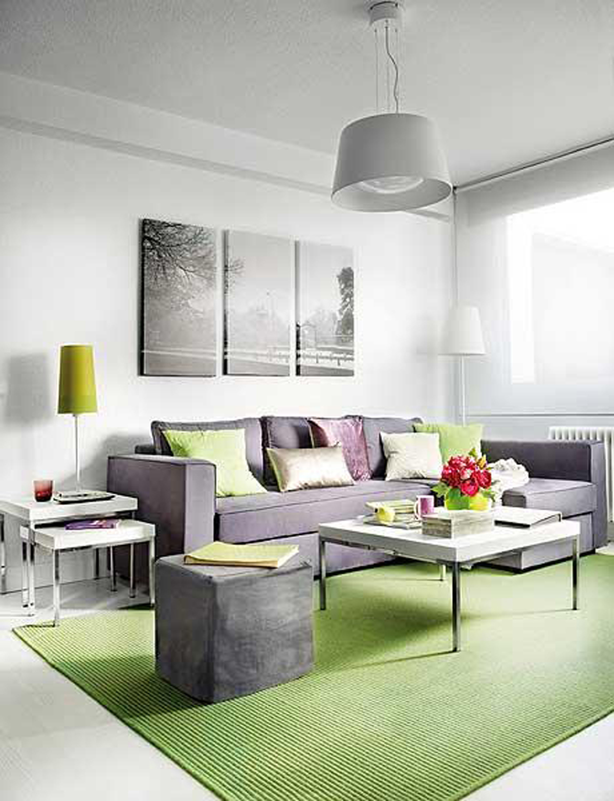 Interior design applied in small apartment architecture living room